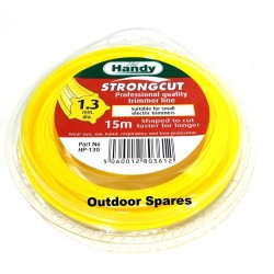 """Nylon Line For Electric Strimmers """"STRONGCUT"""" Round Profile 1.3mm x 15m Roll"""