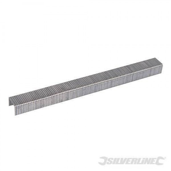 Silverline 8mm Type 140 Staples 5000 Pack For Arrow T50, Tacwise & Stanley