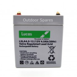 Lawnmower Battery 12V, 4.5AH Rechargeable Fits Hayter Quality Replacement