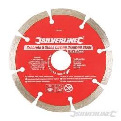 Silverline 115mm Concrete & Stone Cutting Diamond Blade For Tiles, Slabs & Brick, Part No. - 394979