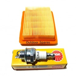 Stihl FS120 Air Filter & NGK Plug Service Kit Fits FS200 FS250 FS300 Quality Replacement Part