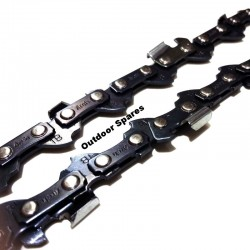 """Partner 335 Chainsaw Chain Fits 340 52 Drive Link .050"""" / 1.3MM Gauge (x2)"""
