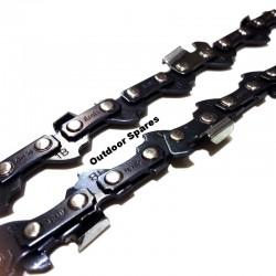 "AEG KS35 Chainsaw Chain Fits KES35 52 Drive Link .050"" /1.3MM (x3)"