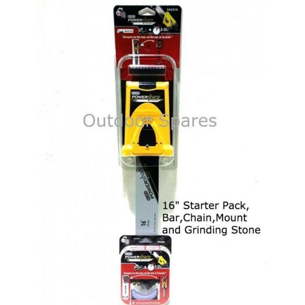 """Spear & Jackson SPJCS3740 Oregon PowerSharp 16"""" Sharpening Starter Kit"""