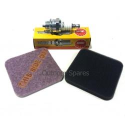 Stihl FS75 Air Filter Set & Spark Plug Fits FS80 FS85 FS85R Quality Replacement Parts