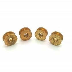 Brass Eyelet x 4 to Suit Manual or Bump Feed Heads OD 16mm ID 4mm