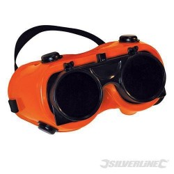 Silverline Gas/Plasma Welders Safety Goggles Flip Up Glasses, Part No. - 140810