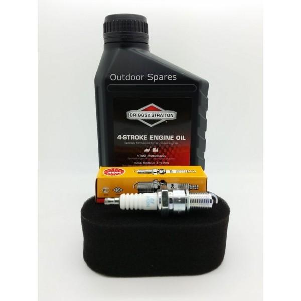 Sanli LS40 Air Filter, Spark Plug & Engine Oil Fits LS42 LSP42 LSPR42 LSR42