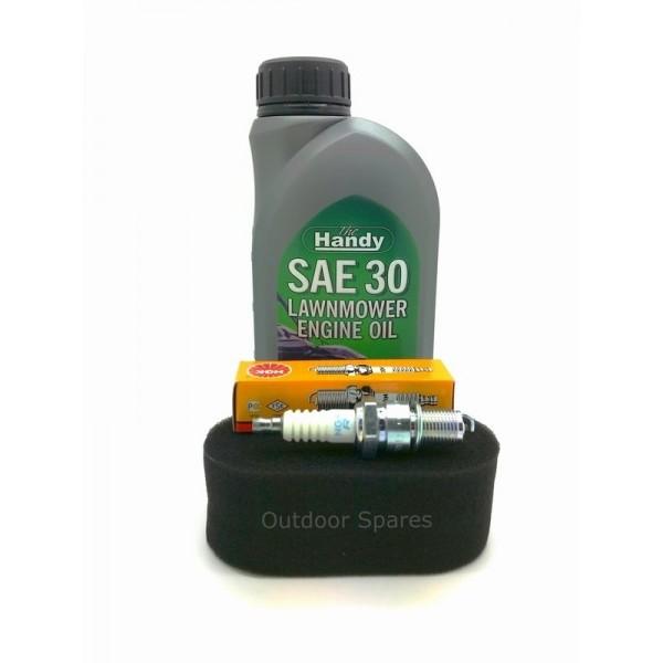 Sanli LS40 Air Filter, Spark Plug & Engine Oil Fits LS42 LSP42 LSPR42 LSR42 Only