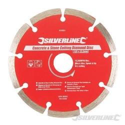 Silverline 125mm Concrete & Stone Cutting Diamond Blade For Tiles, Slabs & Brick