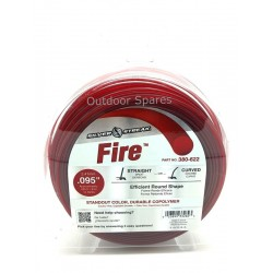 "Silver Streak ""Fire"" 2.4mm Quality Round Nylon Line 285ft In Standout Red Colour"