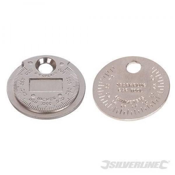 "Silverline Spark Plug Gap Tool Metric 0.5 - 2.55mm, imperial 0.02 - 0.1"", Part No. - 202148"