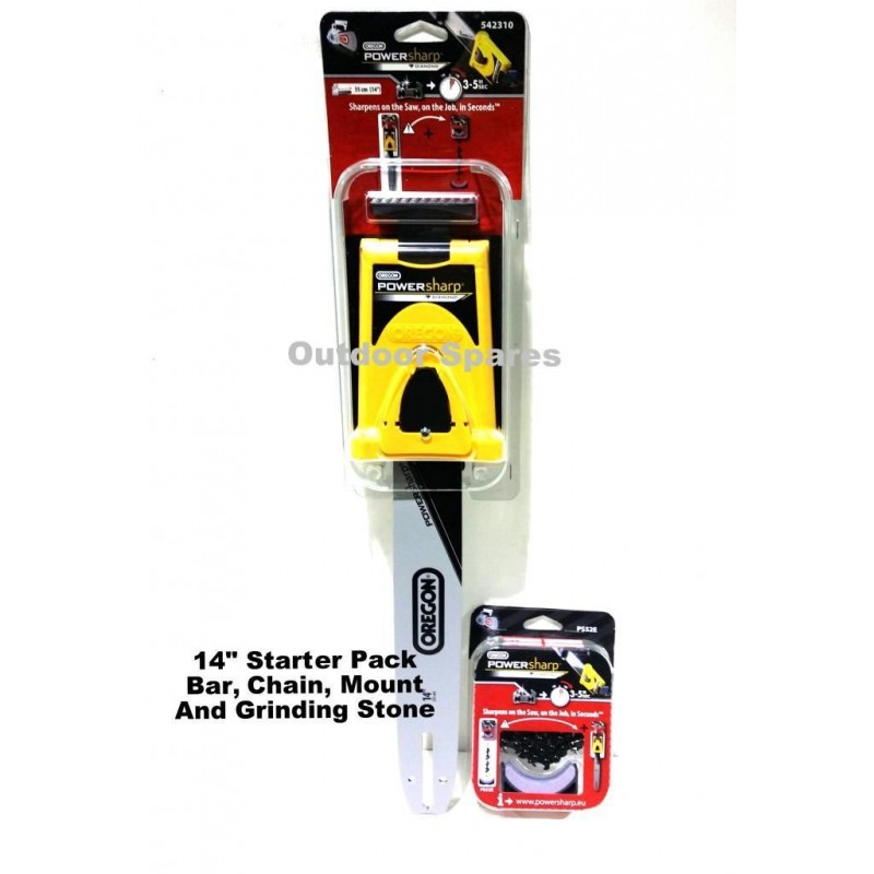 "16/"" PowerSharp Bar-Mount Sharpener /& Guide Bar For Bosch AKE 35S Chainsaw"
