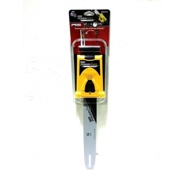 "MacAllister MAC2000W 16"" PowerSharp Bar Mount Sharpener & Guide Bar"