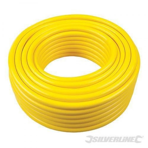 Silverline Heavy Duty Reinforced PVC Garden Water Hose Pipe 30m  298535