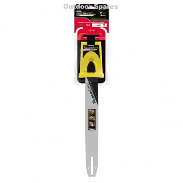 "Spear & Jackson SPJCS3740 14"" PowerSharp Bar Mount Sharpener & Guide Bar"