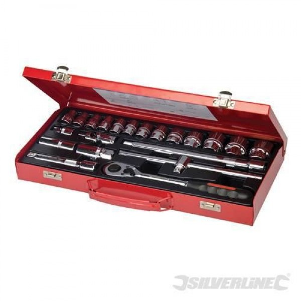 "21 Piece Metric 1/2"" Drive Socket Set With Lifetime Guarantee"