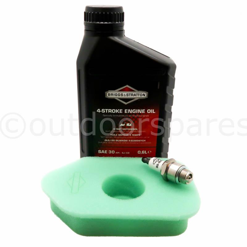Briggs & Stratton Sprint Air Filter, Spark Plug & Engine Oil Genuine  Replacement Parts