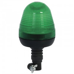 Green Beacon 12/24v Flexi Pole Bolt-on LED Tractor Warning Light