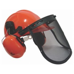 Chainsaw Helmet With Ear Muffs, Mesh Visor & Chin Strap