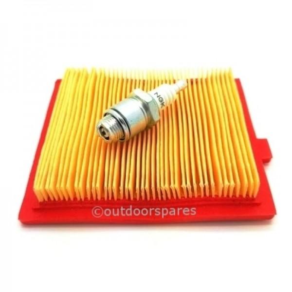 Castelgarden RV150 Air Filter & NGK Spark Plug Genuine Part