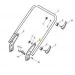 Atco Liner 16 Left Handle Bracket Fits Quattro 18 381005151/0 Genuine Replacement