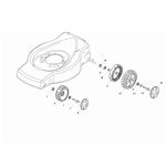 Castelgarden XD 140 M12 Washer Fits XD 170 HD 112521370/0 Genuine Replacement