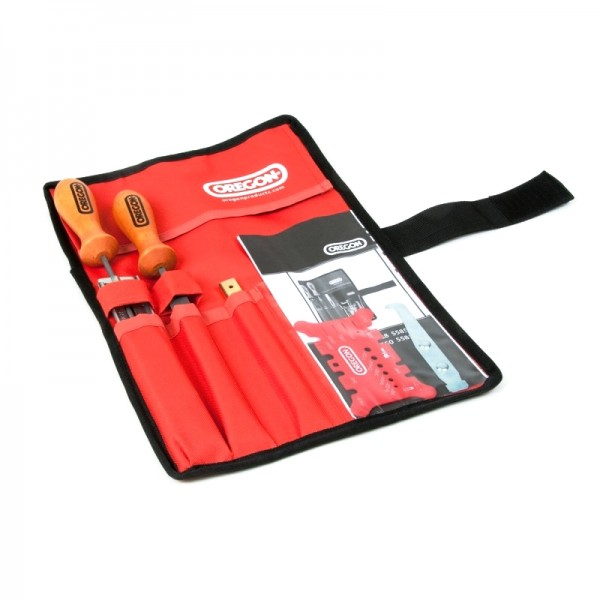 "Chainsaw Chain Filing / Sharpening Kit In Tool Roll Pouch Oregon 3/16"" 4.8mm Quality 558550"