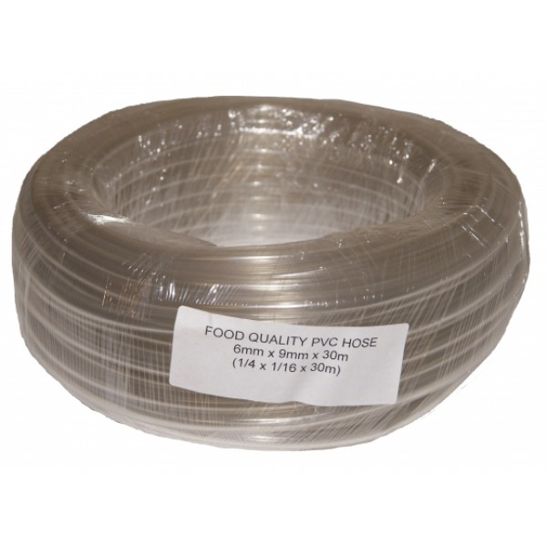 Fuel Line 6mm ID 9mm OD Clear PVC 1 Metre In Length