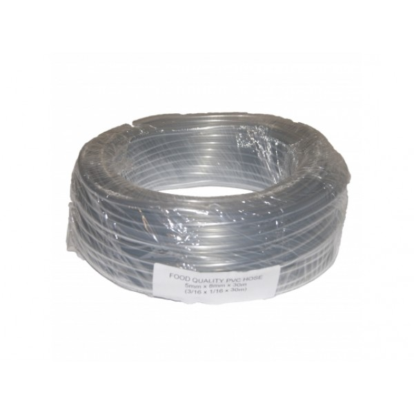 Fuel Line 4.5mm ID 8mm OD Clear PVC 1 Metre Length